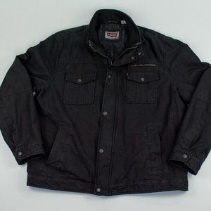 LEVI'S Black Canvas Bomber Jacket